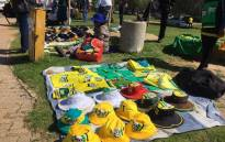 African National Congress merchandise outside the party national conference in Nasrec. Picture: Mia Lindeque/EWN