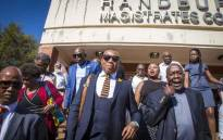 Mduduzi Manana leaves the Randburg Magistrates Court.  Picture: Thomas Holder/EWN.
