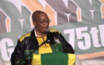 President Jacob Zuma speaking at his 75th birthday celebration in Kliptown Soweto. Picture: Kgothatso Mogale/EWN
