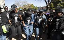 FILE: South African Social Security Agency employees picket outside the headquarters in Pretoria. Picture: Kayleen Morgan/EWN