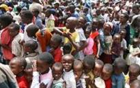 Children in Kenya awaiting food aid. Picture: AFP.