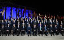Participants in the G20 Finance Ministers and Central Bank Governors Meeting pose for the Family photo in Baden-Baden, southern Germany, on March 17, 2017. Finance ministers from the world's top nations gather in Germany on March 17, as fears grow of a looming trade war over US President Donald Trump's America First policy. Picture: AFP