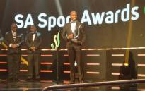 Long jump world champion Luvo Manyonga collects his SA Sports Award on 12 November 2017. Picture: @SPORTandREC_RSA/Twitter