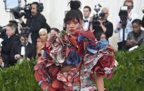 Singer Rihanna in a Comme des Garçons outfit at the 2017 Costume Institute Benefit at the Metropolitan Museum of Art in New York. Picture: AFP.