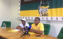 ANC NEC member Fikile Mbalula alongside party spokesperson Zizi Kodwa. Picture: Xolani Koyana/EWN