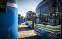 FILE: Go George buses stand idle. Picture: Thomas Holder/EWN.