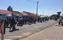 Westbury residents marching against crime in the area on 20 December 2016. Picture: Mmatshepo Chiloane/EWN.