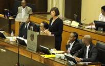 Gauteng Finance MEC Barbara Creecy delivers her budget speech in the Gauteng Legislature on 15 November 2017. Picture: @GautengProvince/Twitter