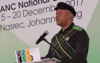 Minister in the Presidency Jeff Radebe addresses the Progressive Business Forum at Nasrec on 20 December 2017. Picture: Louise McAuliffe/EWN