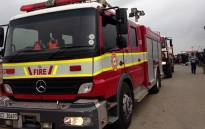 FILE: In a separate incident, a woman died and another was seriously injured when a fire gutted four homes in Kraaifontein earlier today. Picture: EWN.