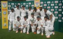 The Proteas pose for team shot after winning series against Sri Lanka on Saturday, 14 January 2017. Picture: Twitter @OfficialCSA