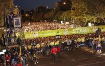 Runners at the starting line of the Two Oceans Marathon in Cape Town. Picture: Twitter/@2OceansMarathon.
