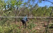 Philippi East residents have began demarcating plots near Joe Gqabi train station for occupation on 22 April 2015. Picture: Xolani Koyana/EWN.