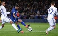 Leicester City's Algerian midfielder Riyad Mahrez (C) attempts a shot on goal during the UEFA Champions League group G football match between Leicester City and FC Copenhagen at the King Power Stadium in Leicester, central England on 18 October 2016. Picture: AFP.