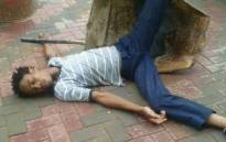 One of the participants in the #DeadPose challenge. Picture: Twitter.