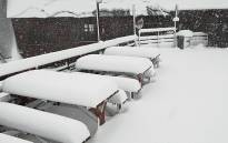 Thick snow falls on the Tiffindell Ski Resort in Barkly East, Eastern Cape on 10 October 2017. Picture: Tiffindell Ski Resort.