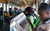 Commuters in a Metrorail train. Picture: Supplied