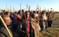 FILE: Mineworkers in Marikana demonstrate. Picture: Vumani Mkhize/EWN.