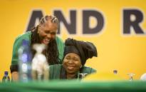 ANC presidential candidate Nkosazana Dlamini Zuma with other members of the Women's League inside the plenary at the party's 54th national conference on 16 December 2017. Picture: Thomas Holder/EWN