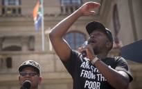 DA Leader Mmusi Maimane addressing the crowed in Church Square near National Treasury in Pretoria on the 6 March 2018. Picture : Sethembiso Zulu/EWN