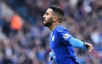 FILE: Leicester City midfielder Riyad Mahrez celebrates a goal. Picture: AFP
