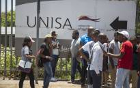 FILE: Students outside the Unisa Sunnyside campus in Pretoria. Picture: Ihsaan Haffejee/EWN.