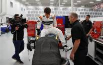 F1 driver Fernando Alonso tests out the cockpit of an IndyCar. Picture: @McLarenIndy/Twitter