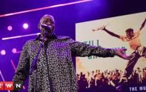 Tshepo Tshola on stage during the High Masekela tribute performance. Picture: Bertram Malgas/EWN