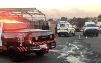 FILE: Two men have been killed and another seriously wounded in a shooting in Marlboro near Sandton on 12 July 2018. Picture: @EMER_G_MED/Twitter.