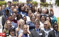 The Western Cape's top matrics from the class of 2016 at Premier Helen Zille's Leeuwenhof residence. Picture: Cindy Archillies/EWN