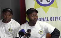 Striking 10111 call center operators. Picture: Kgothatso Mogale/EWN