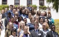 Premier of the Western Cape, Helen Zille and Education MEC Debbie Schäfer with the province's top performers in the 2016 Matric exams. Picture: Cindy Archillies/EWN