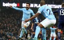 Manchester City's Ilkay Gundogan celebrates scoring a goal. Picture: @ManCity/Twitter