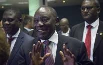 ANC President Cyril Ramaphosa . Picture: Sethembiso Zulu/ EWN.
