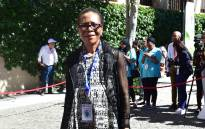 Danisa Baloyi arrives on the red carpet on Plein Street outside Parliament ahead of 2017 State of the Nation Address in Cape Town. Picture: GCIS
