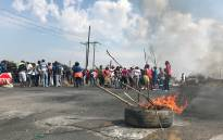The community of Bapong near Marikana are protesting for jobs from Lonmin mine. Picture: Kgothatso Mogale/EWN.