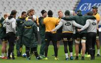South Africa's national rugby union team Springboks gather during the captain run training session on 17 November, 2017 at the Stade de France in Saint-Denis, near Paris, on the eve of an international friendly test match against France. Picture: AFP.