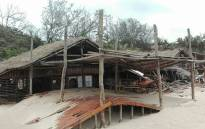 The popular Guinjata Dive Centre in the Inhambane district of Mozambique was destroyed when Cyclone Dineo hit the area, bringing heavy winds and rainfall. Picture: Lee Booysen/Paindane Beach Resort.