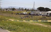A man has been killed after a helicopter crashed into a school field near the Strand in the Western Cape. Picture: Cindy Archillies