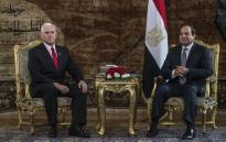 Egyptian President Abdel Fattah al-Sisi (R) meets with US Vice President Mike Pence (L) at the Presidential Palace in the capital Cairo on 20 January 2018. Picture: AFP.