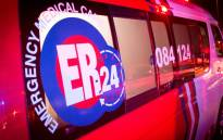 FILE: ER24 ambulance. Picture: ER24 via Twitter.
