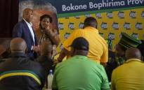 Supra Mahumapelo is seen during a meeting of ANC North West structures amid calls for him to be removed as premier of the province. Picture: Ihsaan Haffejee/EWN.