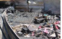The aftermath of a shack fire in Soweto which claimed the lives of three young children on 18 January 2016. Picture: EWN.