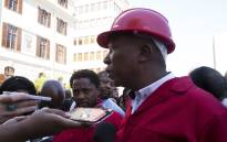 FILE: EFF leader Julius Malema addresses journalists outside Parliament following the budget speech. Picture: Supplied.