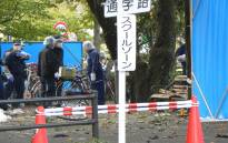 Japanese police investigate an explosion site at a park in Utsunomiya, north of Tokyo. Picture: AFP
