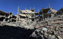 A general view shows destruction in a residential neighbourhood in the adjacent modern town to the ancient Syrian city of Palmyra on 31 March 2016. Picture: AFP.