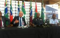 SAAF & Armscor officials at a media briefing giving details surrounding the proposed new VVIP jet for president Jacob Zuma on 10 November 2015, in Pretoria. Picture: Kgothatso Mogale/EWN.