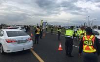 Roadblock. Picture: EWN.