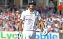 England's Alistair Cook leaves the pitch after being dismissed on the first day of the fourth Ashes cricket Test match between England and Australia at Trent Bridge in Nottingham, England on August 6, 2015. Picture: AFP.