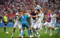 Russia players celebrate winning the penalty shootout. Picture: Facebook.com.